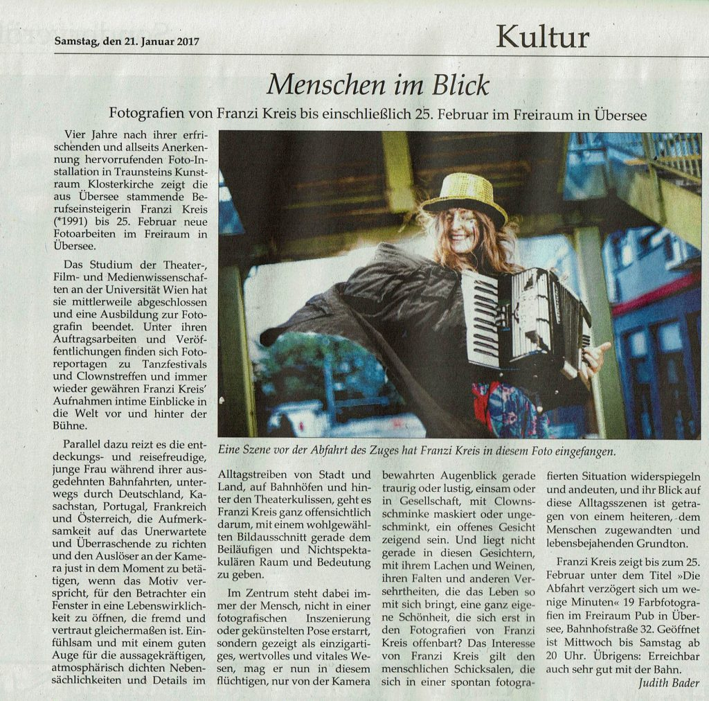 traunsteiner tagblatt, 21.01.2017, franzi kreis, ausstellung freiraum übersee